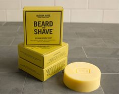 Hudson Made, Beard & Shave Soaps  - The Dieline -