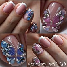 45 Best Nails Decorated with Nail Stickers 2019- Page 6 of 45 - Nail Designs & Manicure Blog