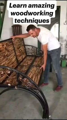 Diy Wood Projects, Home Projects, Home Crafts, Diy Home Decor, Woodworking Techniques, Woodworking Projects, Furniture Making, Wood Furniture, Backyard Projects