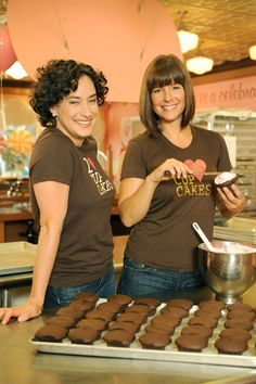Lori and Heather from the TV show Cupcake Girls first met in Victoria, BC at the age of 15. Years later they opened their first bakery in April, 2002, in Vancouver's West End on Denman Street. @HalfmoonYoga