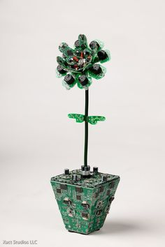 Artist Steven Rodrig took PCB recycling to another level, when he created a series of sculptures made entirely from circuit boards and other electronic parts.