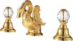 $378.10 | Buy Free shipping gold finish 3 Pcs ROMAN lavatory sink faucet with crystal handles widespread cute little swan from Reliable faucet sprayer suppliers on Classic Faucet Store Lavatory Sink, Bathroom Sink Faucets, Shower Faucet, Bathroom Fixtures, Shower Set, Decorative Bells, Swan, Bathtub, Free Shipping