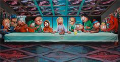 The Last South Park Supper - Created by Matt Stone, Trey Parker and Pop Art legend Ron English.
