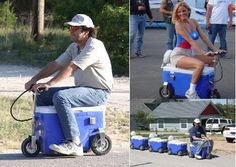 "TreeHugger loves plug-in hybrids, and here is the best one yet- the Cruzin Cooler goes 13 mph for up to 15 miles on a charge, and carries a case of ethanol-enhanced biofuel in the form of ice cold beer. Not for San Francisco though- ""These units are"