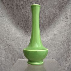 "Trenton Potteries Company ""Laverne"" Bud Vase, Green, Circa 1940 from thedevilduckcollection on Ruby Lane"