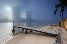 paradise covered in fog (Surfers Paradise, Queensland, Australia)