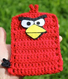 cell phone crochet cover pics | Angry Birds Crochet & Felt Mobile / Cell Phone Cover by Rakeli