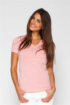 Rose nursing blouse with wrap look