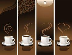 BANNER / Free vector Vector banner coffee banner03 vector
