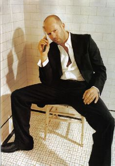 Seriously?! Only Jason Statham could pull off this pose & look so hot.