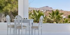 It's all about the views at Pietra e Mare; there are plenty of outdoor spaces and patios for taking in Mykonos. #Jetsetter