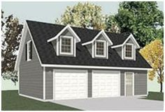 Garage Construction Plans by Behm Design are available at Amazon.com.