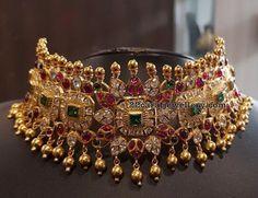 90 Gramm Pachi Work Choker in Silber - Schmuck Design Silver Jewellery Indian, Indian Wedding Jewelry, Gold Jewellery Design, Bridal Jewelry, Gold Jewelry, Antique Jewellery, Diamond Jewellery, High Jewelry, Indian Bridal