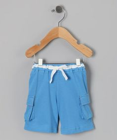 Take a look at this Blue Organic Cargo Shorts - Infant & Toddler by Organic Babies on #zulily today!