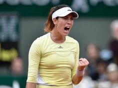 Spain's Garbine Muguruza reacts after winning a point during her women's final match against the US's Serena Williams at the Roland Garros 2016 French Tennis Open in Paris on June 4, 2016. PHOTO: AFP