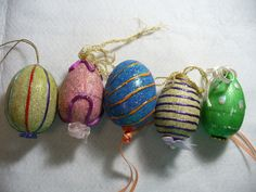 hand painted Easter eggs by my mom