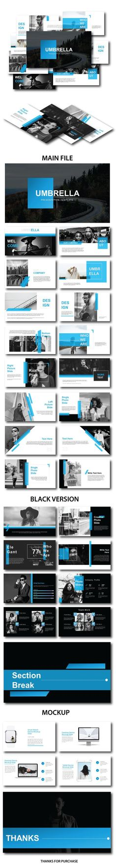 Umbrella Multipurpose Template - PowerPoint Templates Presentation Templates