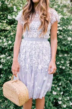 Gal Meets Glam Jasmine Season -Needle & Thread dress & Sea & Grass bag