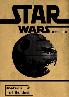 Return of the Jedi minimalist poster by HelenPrint on Etsy