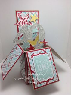 Stampin Up Handmade Card in a Box Birthday by CreatewithMel