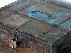 Trug Vintage Antiqued Wooden Box Crate Small Box Billingsgate Market