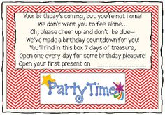Parties and Patterns: Missionary Ideas Birthday Countdown Missionari Fun, Idea Birthday, Birthday Countdown, Missionari Mad, Missionari Stuff, Missionari Idea