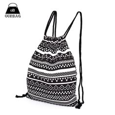 e12778b22427 National Women Canvas Drawstring Backpack Newest Vintage College Students  School Bagpack Girls Mochila Feminina Sports Sack