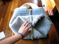 Felted sweater bag instructions.