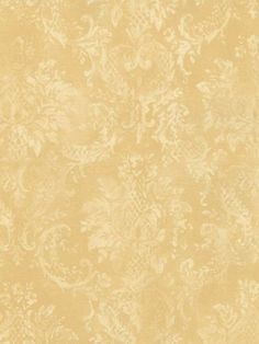 distressed gold yellow damask wallpaper SC25655