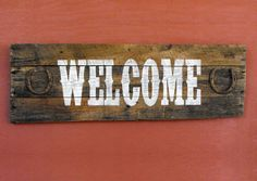 Recycled pallet wood Western Style Welcome Sign with by ASPauljoy, $49.95
