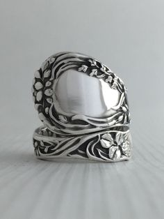 Size 7 Vintage Sterling Silver Gorham Spoon Ring by NotSoFlatware on Etsy https://www.etsy.com/listing/217985453/size-7-vintage-sterling-silver-gorham