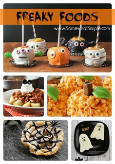 Cute food for Halloween Party from www.SomewhatSimple.com