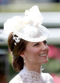 Catherine, Duchess of Cambridge is seen in the Parade Ring as she attends Royal Ascot 2017 at Ascot Racecourse on June 20, 2017 in Ascot, England.