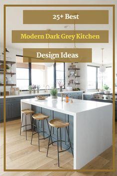 25+ Best Modern Dark Grey Kitchen Design Ideas #greykitchendesignideas Outdoor Kitchen Design, Home Decor Kitchen, Kitchen Interior, New Kitchen, Kitchen Ideas, Awesome Kitchen, Kitchen Inspiration, Beautiful Kitchen, Room Kitchen