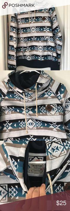 Burton Ski sweatshirt Worn a handful of times, very cute sweatshirt with design. Very warm with thick collar and hood Burton Jackets & Coats