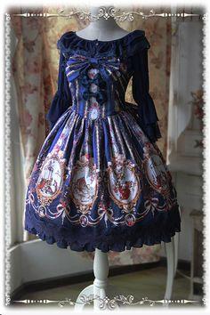 【Infanta.婴梵塔】Lolita原创印花Cinderella*仙度瑞拉*JSK-淘宝网