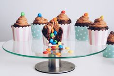 Pinata cupcakes with Nutalla cream and M&M's <3