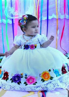 Mexican Fiesta Birthday Party, Mexican Party, Baby Girl Dresses, Baby Dress, Flower Girl Dresses, Mexican Outfit, Mexican Dresses, Baby Baptism, Baptism Dress