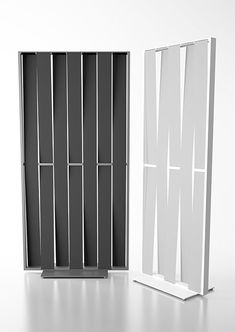 Sight divider screen with painted aluminum frame and steel base, seven fabric…