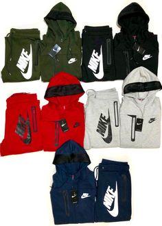 bdd00e41e057 Nike Men s Sweat Suit Brand New Gray Full Zip Hoodie Joggers Complete Set   fashion
