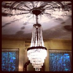 Formal Parlor Chandelier... The Magnolias.. Holly Springs, MS