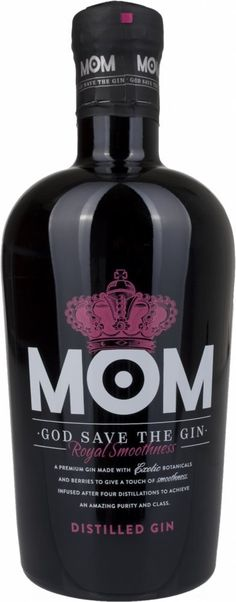 Mom God Save The Gin (1 x 0.7 l) Rum Bottle, Alcohol Bottles, Liquor Bottles, Gin Tasting, Gin Brands, Wine Night, Dry Gin, Liquor Store, Gin And Tonic