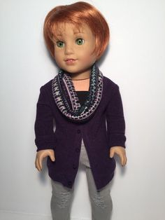 Sweater Knit Cardigan only - Purple by QTpiedollclothing on Etsy  $15.00