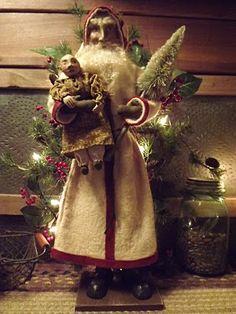 105 Best Christmas Figures Images Primitive Santa