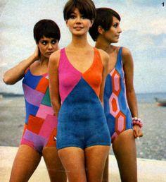 60 ideas for swimwear photography studio swimsuits 60s And 70s Fashion, Mod Fashion, Vintage Fashion, Retro Swimwear, Vintage Swimsuits, Lingerie, Vintage Outfits, Vintage Mode, Bathing Beauties