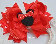 Laço de boutique Minnie Pink ou vermelha