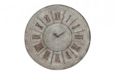 Flea Market Distressed Galvanized Metal Clock | Decor Steals~Enjoy Today's Steal from DECOR STEALS