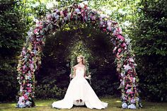Garden of Eden Inspired Wedding Theme    Red Floral Architecture    Teresa C Photography