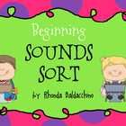 Free! beginning sound sort activities that can be used in a center to reinforce your letter/sound knowledge. 24 pages