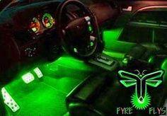 Green interior lights